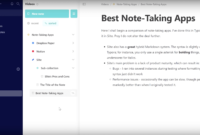 The 10 Best Note-Taking Apps In 2020 – Evernote, Notion, And with Best Note Taking Template
