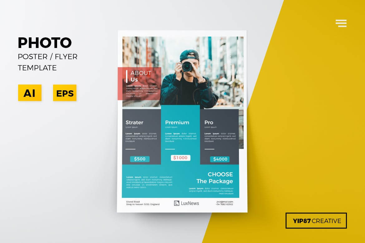 The 15 Best Flyer Templates For Adobe Photoshop & Illustrator With Regard To Adobe Illustrator Flyer Template