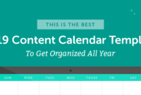 The Best 2020 Content Calendar Template: Get Organized All Year with Blank Activity Calendar Template
