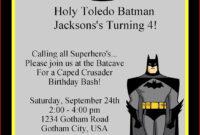 The Best Batman Printable Birthday Card with Batman Birthday Card Template