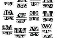 The Best Free Monogram Vector Images. Download From 296 Free regarding 3 Letter Monogram Template