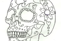 The Best Free Sugar Skull Drawing Images. Download From throughout Blank Sugar Skull Template