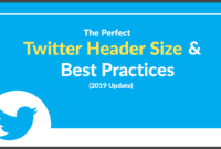 The Perfect Twitter Header Size & Best Practices (2020 Update) within Blank Twitter Profile Template