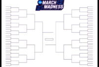 The Printable March Madness Bracket For The 2019 Ncaa Tournament for Blank Ncaa Bracket Template