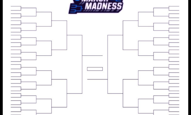 The Printable March Madness Bracket For The 2019 Ncaa Tournament regarding Blank March Madness Bracket Template