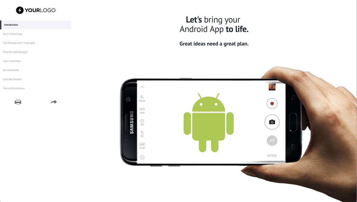 This [Free] Android Mobile App Development Proposal Template In App Proposal Template