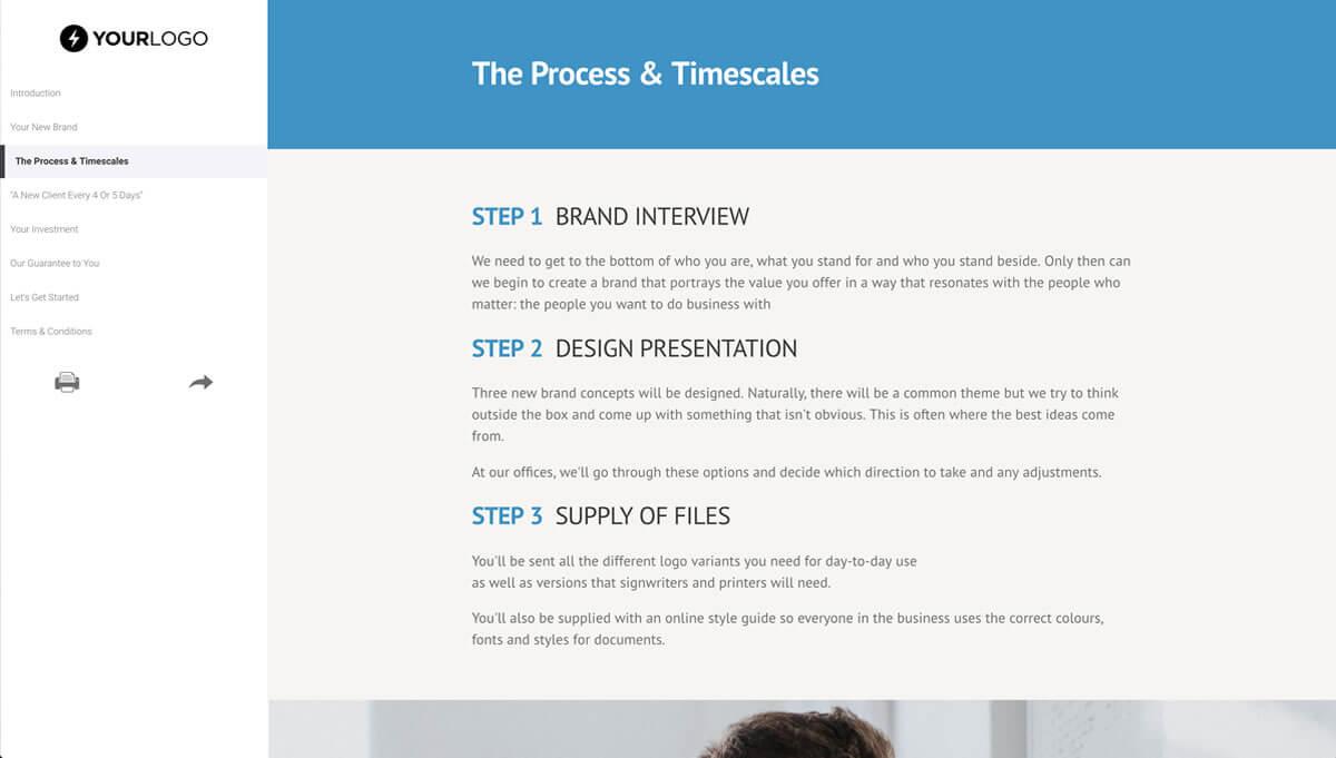 This [Free] Brand Design Proposal Template Won $36M Of Business Inside Branding Proposal Template