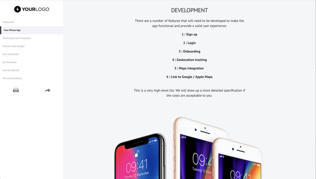 This [Free] Iphone Mobile App Development Proposal Template Throughout App Proposal Template