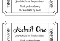 Ticket Clipart Template with Blank Admission Ticket Template