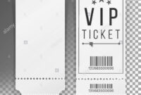 Ticket Template Set Vector. Blank Theater, Cinema, Train throughout Blank Train Ticket Template