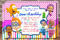 Tips: Pretty Bubble Guppies Invitations Design For Your regarding Bubble Guppies Birthday Banner Template