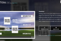 Top 20 Adobe Premiere Title/intro Templates [Free Download] inside Adobe Premiere Title Templates
