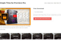 Top 20 Adobe Premiere Title/intro Templates [Free Download] intended for Adobe Premiere Title Templates