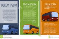Tourist Bus Banner Set Stock Vector. Illustration Of Flyer inside Bus Trip Flyer Templates Free