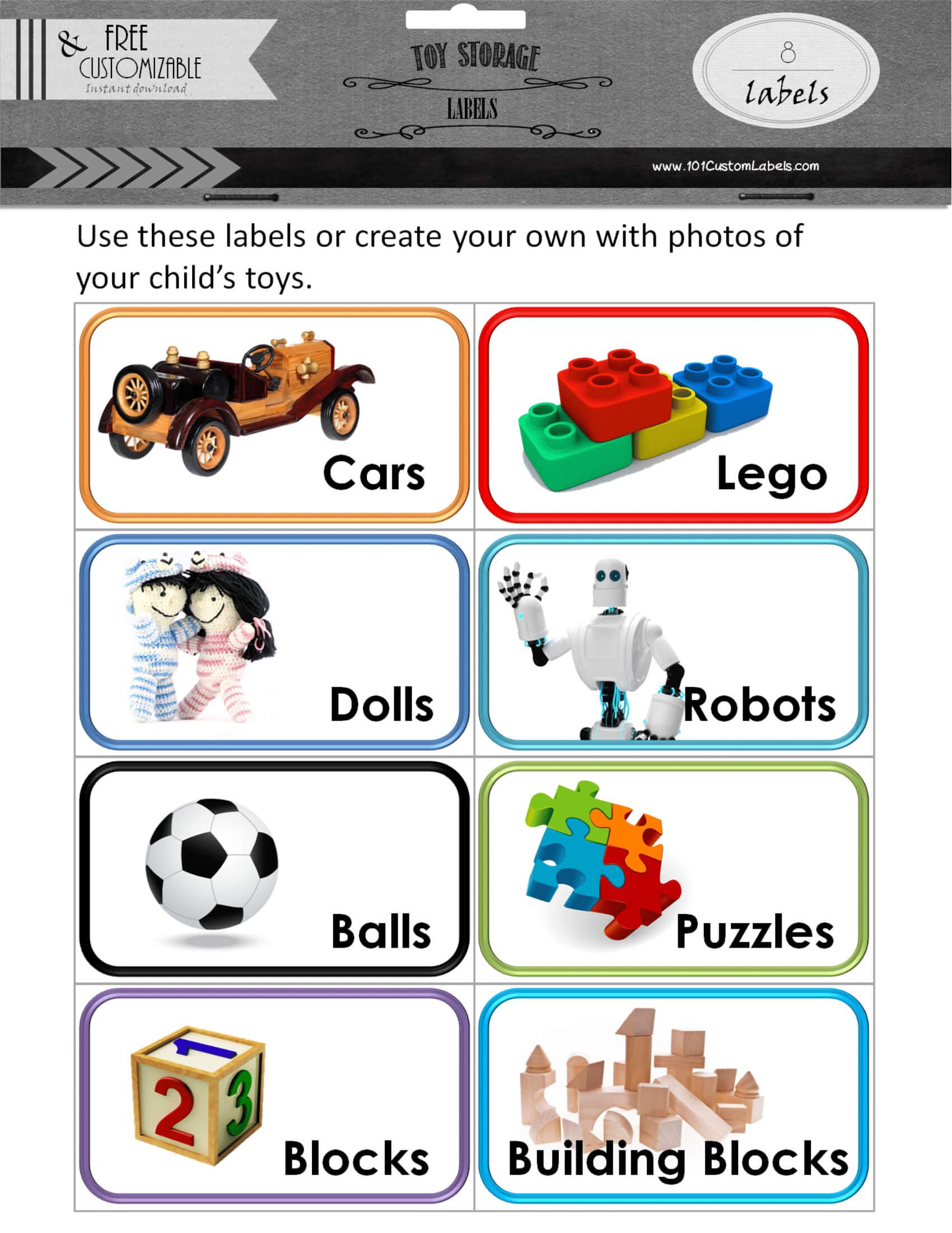 Toy Bin Labels For Bin Labels Template