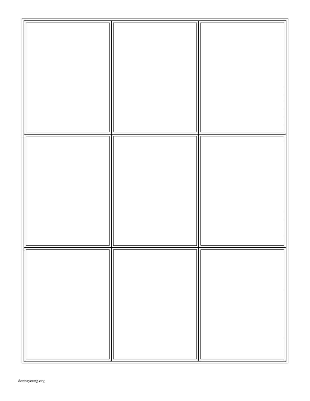 Trading Card Template Maker Creator Free Blank Pdf Download For Baseball Card Size Template