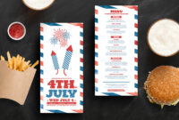 Traditional 4Th July Dl Rack Card Template In Psd, Ai with 4Th Of July Menu Template