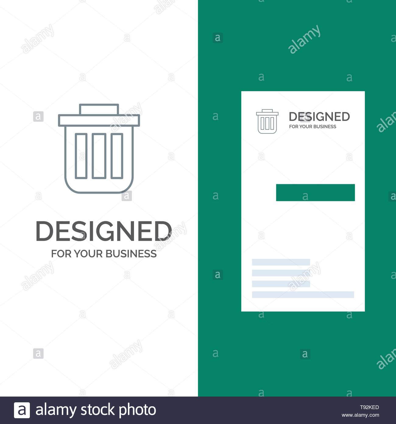 Trash, Basket, Bin, Can, Container, Dustbin, Office Grey Throughout Bin Card Template