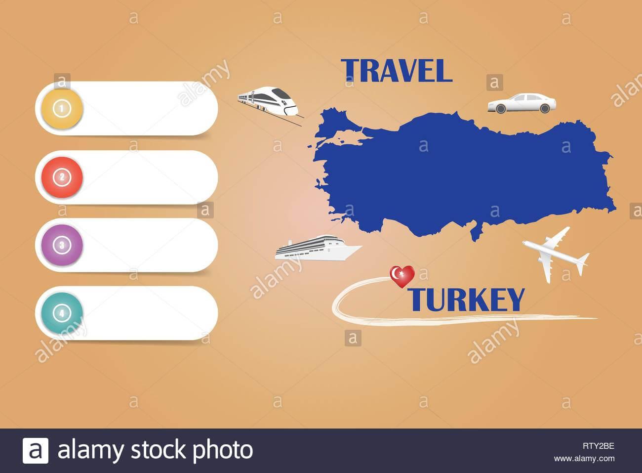 Travel Turkey Template Vector For Travel Agencies Etc Regarding Blank Turkey Template