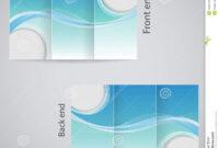 Tri-Fold Brochure Design. Stock Vector. Illustration Of inside 3 Fold Brochure Template Free