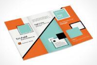 Tri Fold Brochure Psd Mockup A4 Design – Psd Mockups within 3 Fold Brochure Template Psd