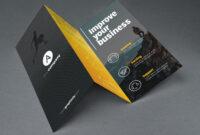 Tri Fold Brochure Template Psd for 3 Fold Brochure Template Psd