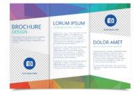 Tri Fold Brochure Vector Template – Download Free Vectors with 3 Fold Brochure Template Free