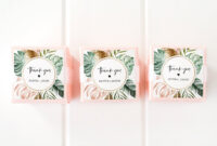 Tropical Favor Tag Template, Wedding Or Bridal Shower with regard to Bridal Shower Label Templates