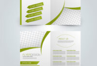 Two Page Fold Brochure Template Design in 2 Fold Flyer Template