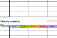 Two Week Calendar Template Word – Colona.rsd7 in 2 Week Calendar Template