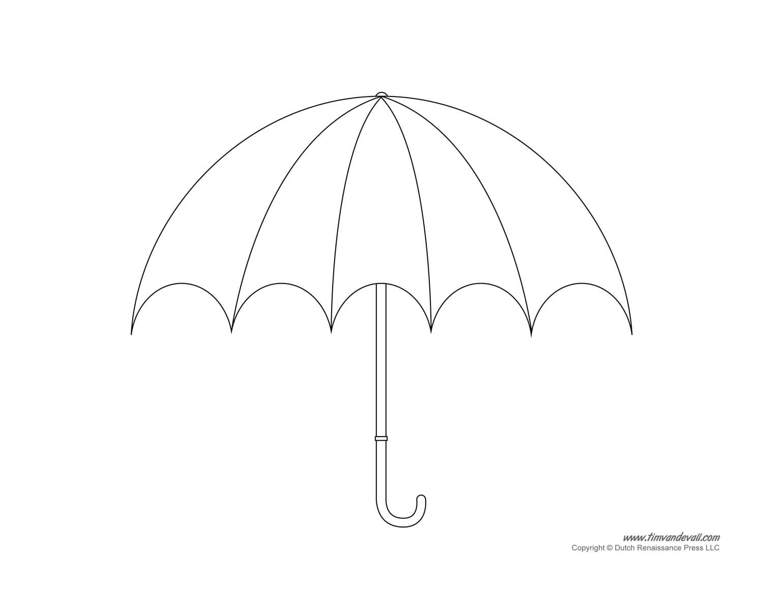 Umbrella Template - Clip Art Library Inside Blank Umbrella Template