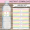 Unicorn Water Bottle Labels Template Regarding Baby Shower Water Bottle Labels Template