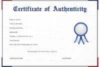 Unique Certificate Of Authenticity Template Free Ideas Fine in Certificate Of Authenticity Template