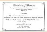 Unique Certificate Of Baptism Template Ideas Broadman for Christian Certificate Template