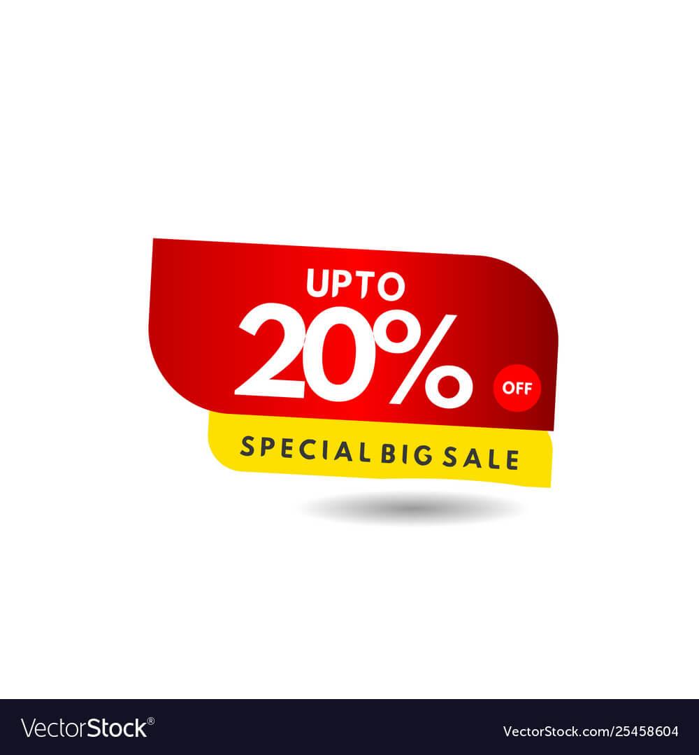 Up To 20 Special Big Sale Label Template Design For Adobe Illustrator Label Template