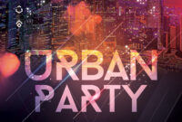 Urban Party Mix Free Psd Flyer Template – Free Psd Flyer throughout Anniversary Flyer Template Free