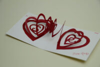 Valentine's Day Pop Up Card: Spiral Heart Tutorial for 3D Heart Pop Up Card Template Pdf