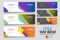 Vector Abstract Web Banner Design Template – Photoshop Action pertaining to Banner Template For Photoshop