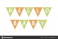 Vector Baby Shower Banner Template. Scandinavian Design for Baby Shower Banner Template