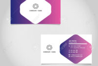 Vector Business Card Template Design Adobe Illustrator regarding Adobe Illustrator Card Template