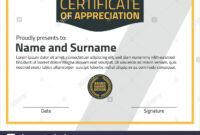 Vector Certificate Template. Illustration Certificate In A4 for Certificate Template Size