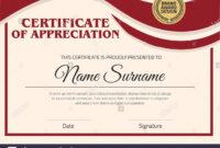 Vector Certificate Template. Illustration Certificate In A4 with regard to Certificate Template Size