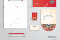 Vector Identity Templates Letterhead Envelope Business Stock with Business Card Letterhead Envelope Template