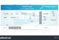 Vector Train Ticket Traveler Check Template Stock Vector with regard to Blank Train Ticket Template