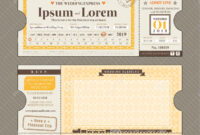 Vector Train Ticket Wedding Invitation Design Template Stock in Blank Train Ticket Template