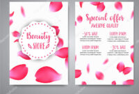 Vector Vertical Banners Template With Rose Petals. Business in Boutique Flyer Template Free