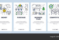 Vector Web Site Linear Art Onboarding Screens Template in Business Plan Template For Website