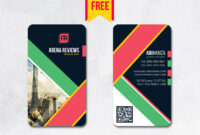 Vertical Business Card Design Psd – Free Download | Arenareviews inside Blank Business Card Template Download