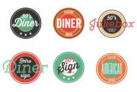 Vintage 50S Diner Label Collection – Download Free Vectors in 50S Diner Menu Template