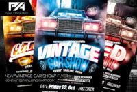 Vintage Car Show Event Flyer Psd Template | Download .psd He regarding Car Show Flyer Template